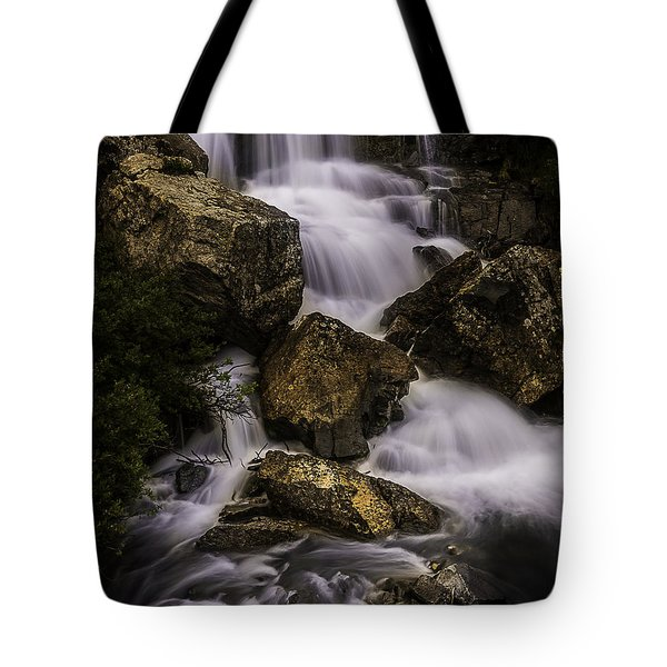 Blue Lake Falls Tote Bag