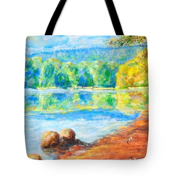 Blue Lake Tote Bag by Martin Capek