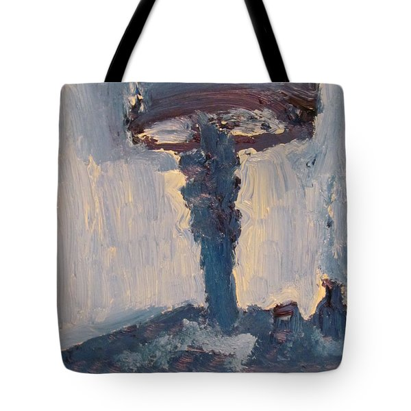 Blue Lamp Tote Bag