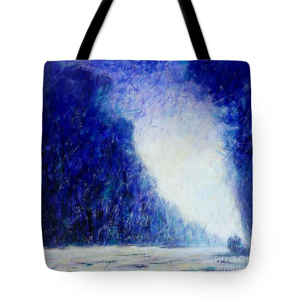 Blue Landscape - Abstract Tote Bag
