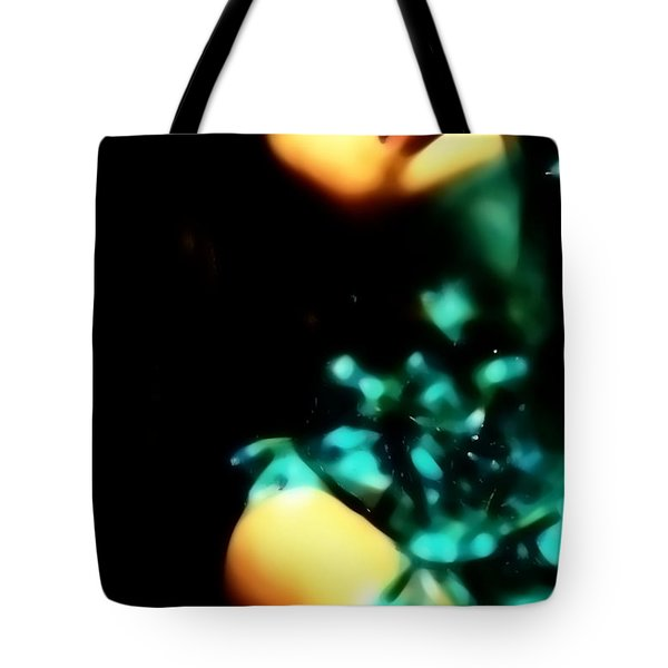 Tote Bag featuring the photograph Blue Lights by Jessica Shelton