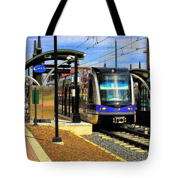 Tote Bag featuring the photograph Blue Line by Rodney Lee Williams