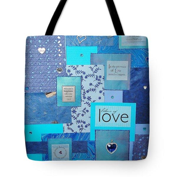 Blue Love Tote Bag