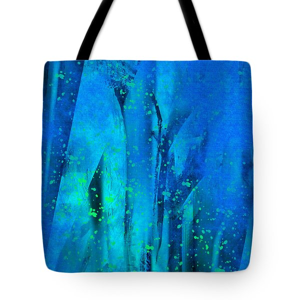 Tote Bag featuring the painting Feeling Blue by Yul Olaivar