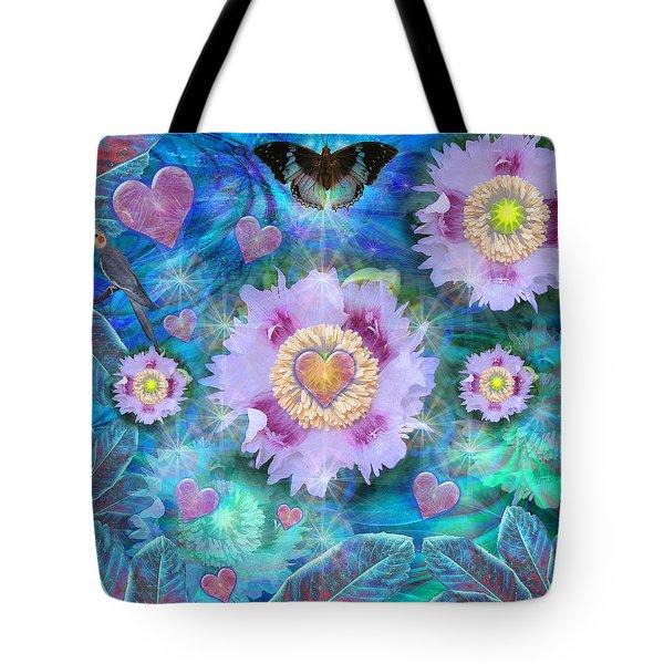 Blue Luminance Tote Bag by Alixandra Mullins