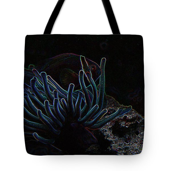 Blue Magic Light Fish  Tote Bag