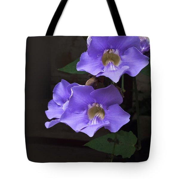 Blue Mandevillas Tote Bag
