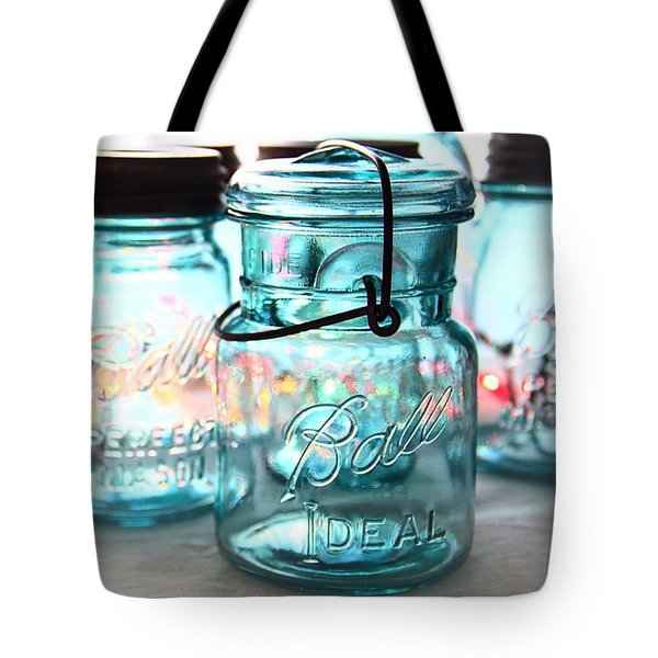 Blue Mason Jars Tote Bag