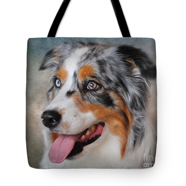 Blue Merle Australian Shepherd Tote Bag