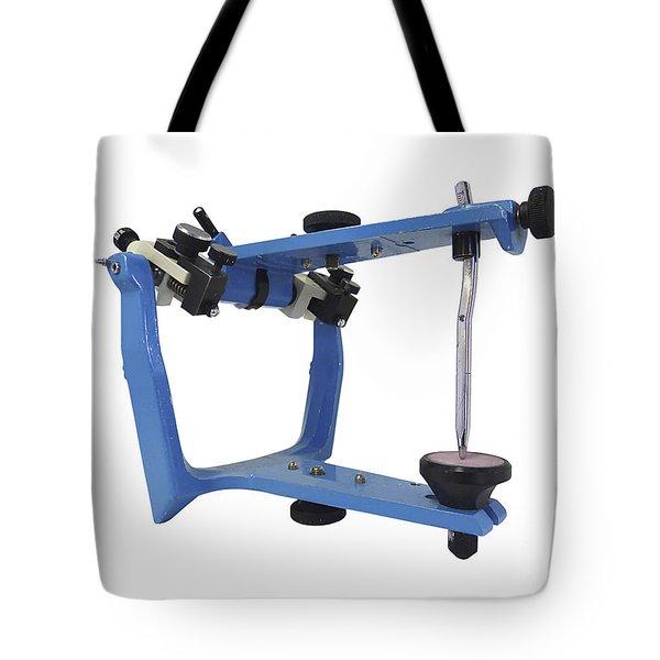 Blue Metallic Articulator Used Tote Bag by Elena Duvernay