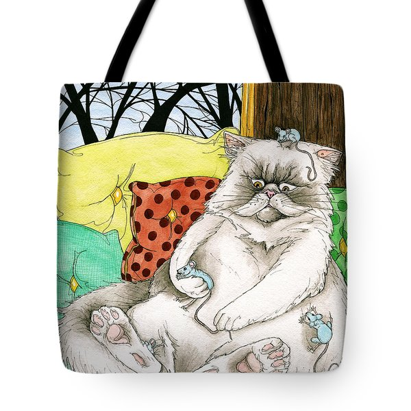 Blue Mice Tote Bag
