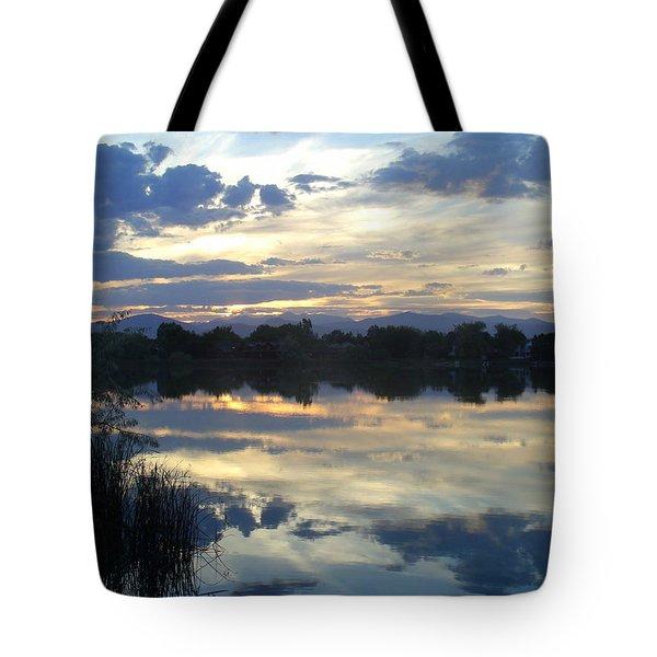 Blue Mirror Tote Bag