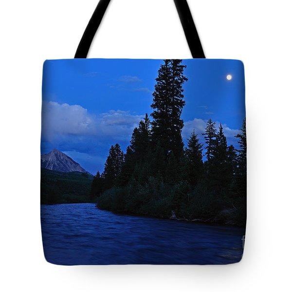 Blue Missing You Tote Bag