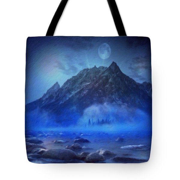 Blue Mist Rising Tote Bag