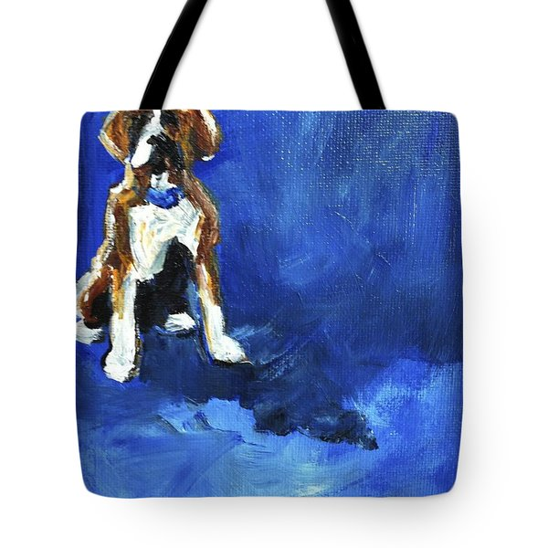 Blue Monday Tote Bag by Maria's Watercolor