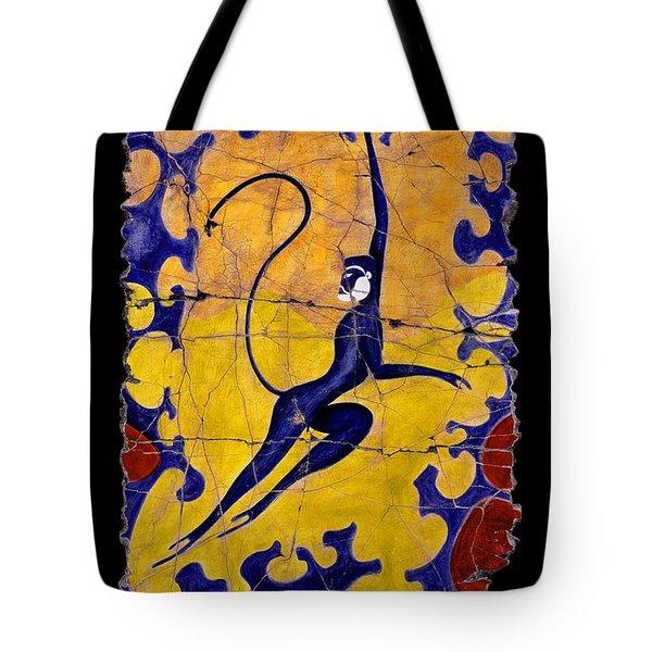 Blue Monkey No. 13 Tote Bag by Steve Bogdanoff