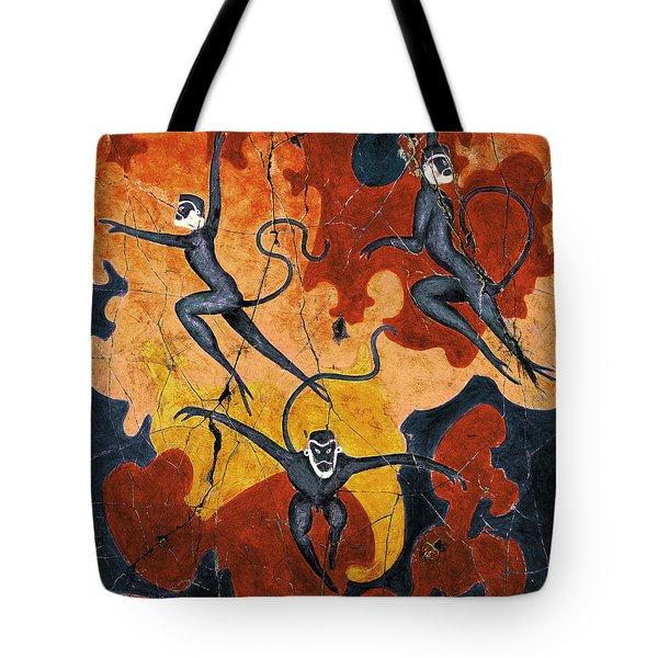 Blue Monkeys No. 8 - Study No. 1 Tote Bag