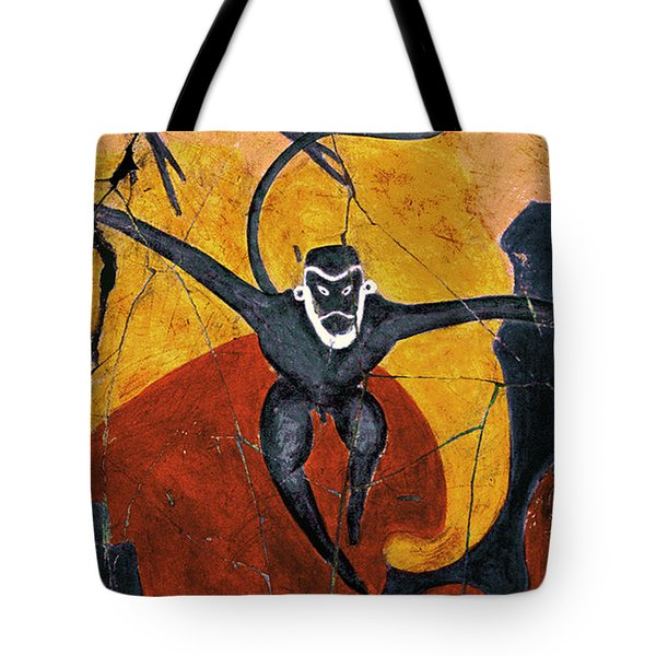 Blue Monkeys No. 8 - Study No. 3 Tote Bag