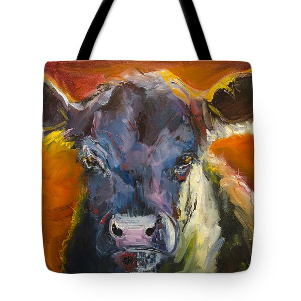Blue Moo Tote Bag