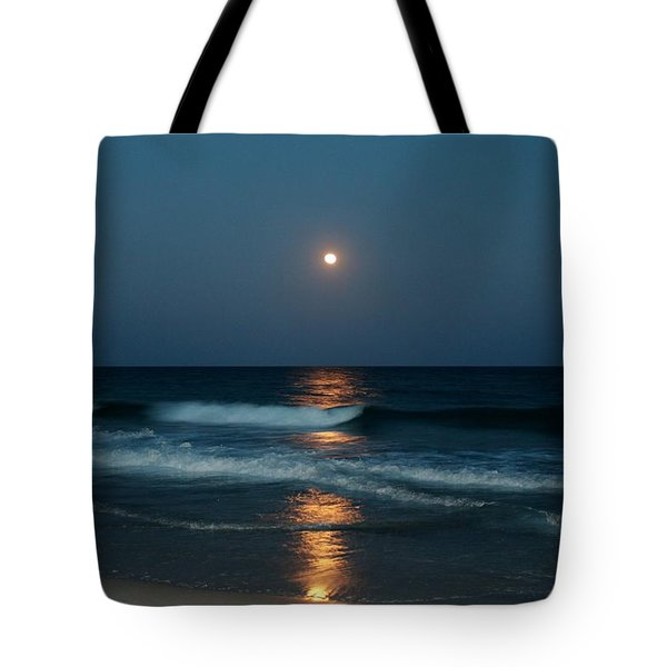 Blue Moon Tote Bag by Cynthia Guinn