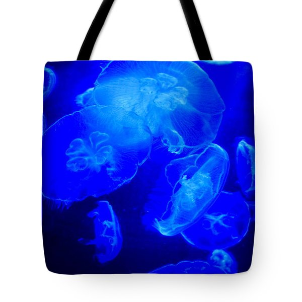 Blue Moon Jellies Tote Bag