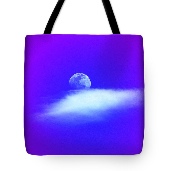 Tote Bag featuring the photograph Blue Moon Lavender Sky by Susanne Still