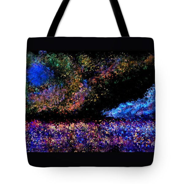 Tote Bag featuring the painting Blue Moon by Paula Ayers