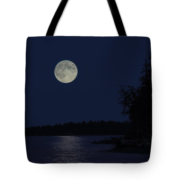 Blue Moon Tote Bag by Randy Hall
