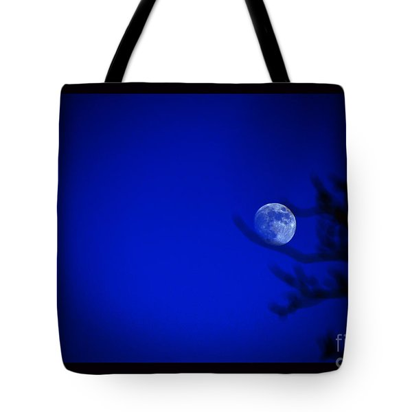 Blue Moon Rise Tote Bag