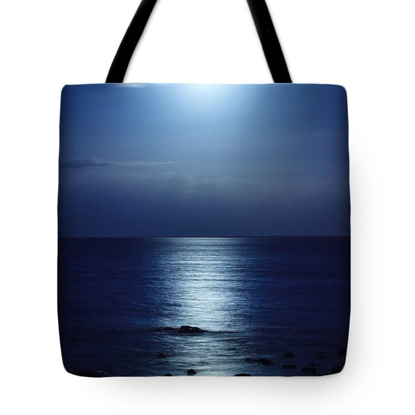 Blue Moon Rising Tote Bag by Peta Thames