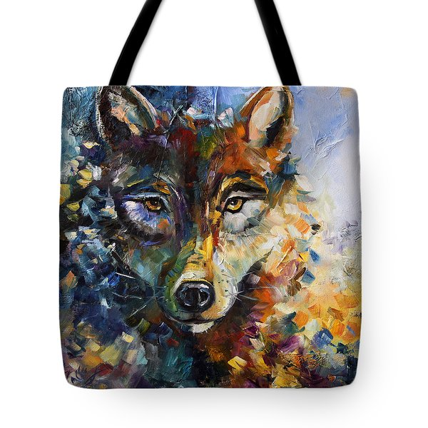 Blue Moon Wolf Tote Bag