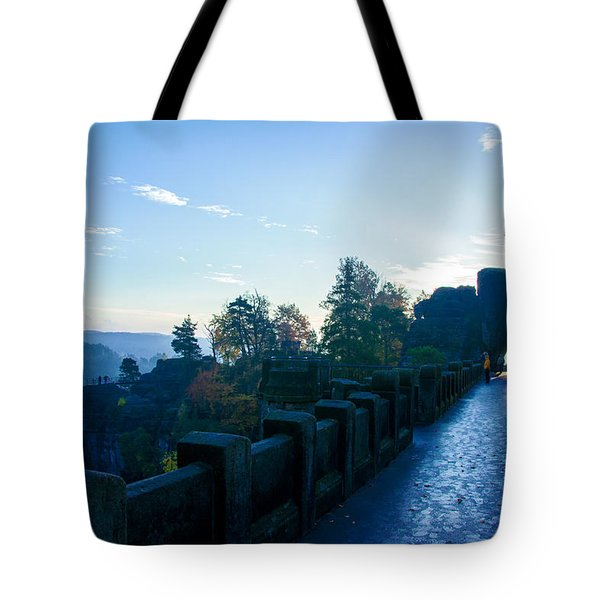 Blue Morning On The Bastei Tote Bag