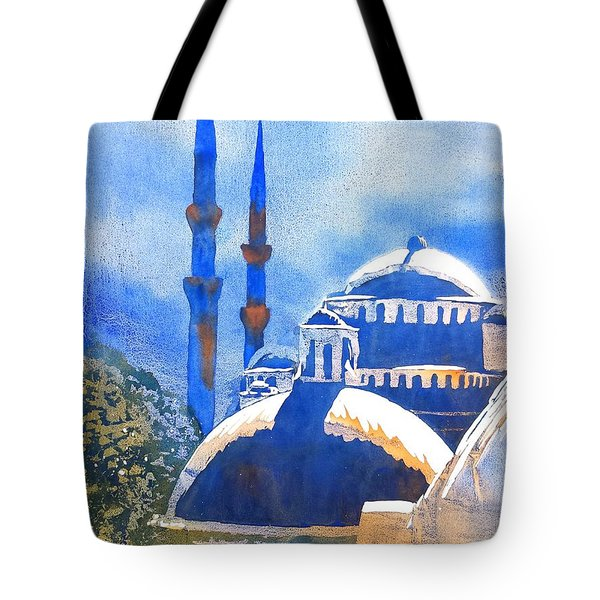 Blue Mosque In Blues Tote Bag