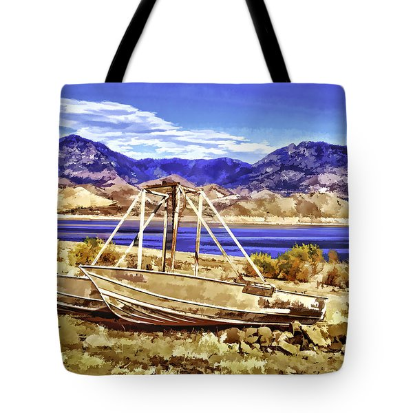Tote Bag featuring the painting Blue by Muhie Kanawati