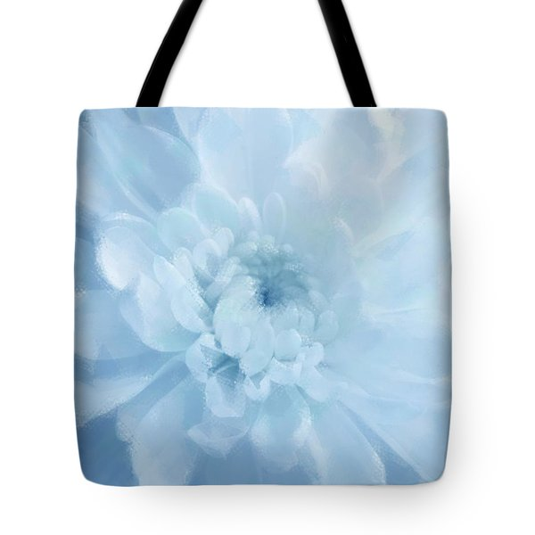 Blue Mum Luminous Painted Blossom Tote Bag