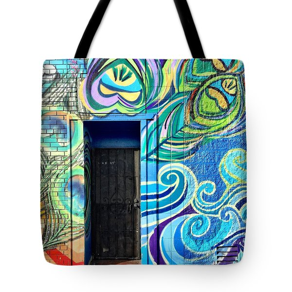 Blue Mural Tote Bag