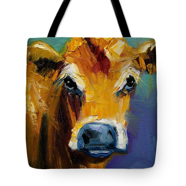 Blue Nose Cow Tote Bag