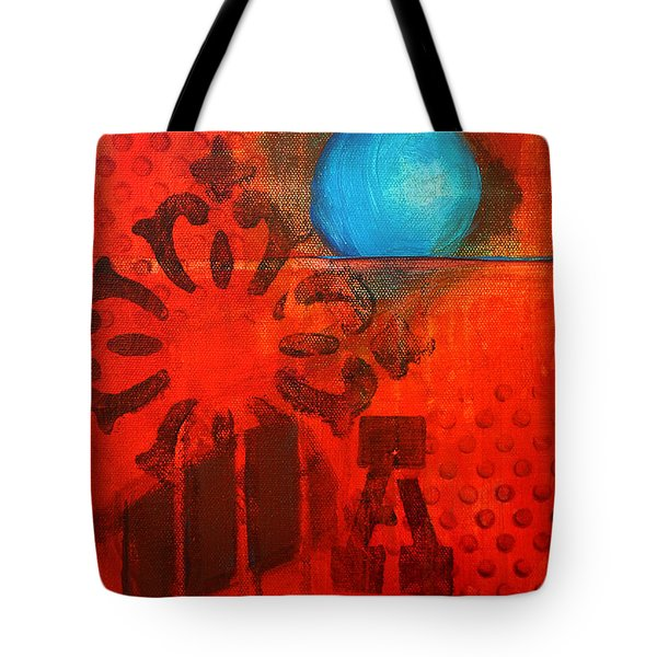 Blue Orb Tote Bag