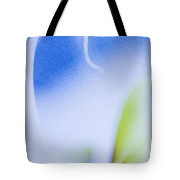 Blue Orchid Abstract Tote Bag by Bradley R Youngberg