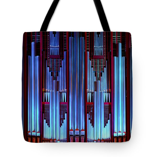 Blue Organ Pipes Tote Bag