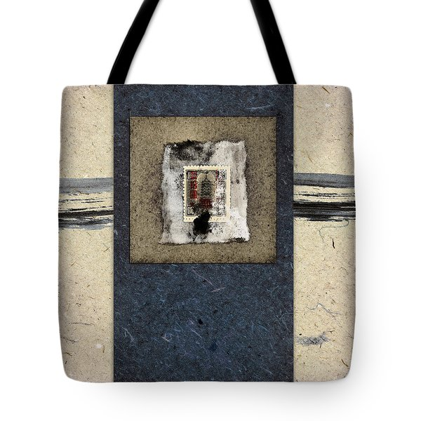 Blue Paint And Papers Tote Bag