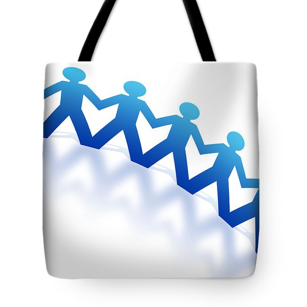 Blue Paperman Tote Bag by Aged Pixel