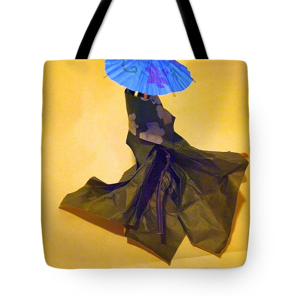 Blue Parasol Tote Bag