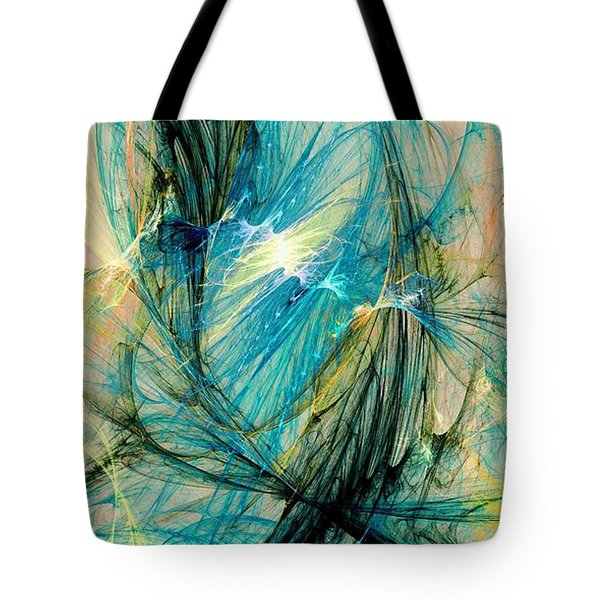 Blue Phoenix Tote Bag