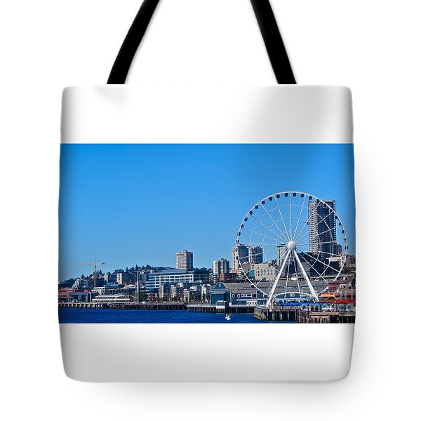 Blue Pier  Tote Bag