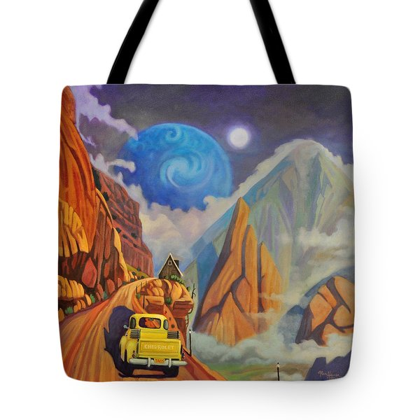 Tote Bag featuring the painting Cliff House by Art James West