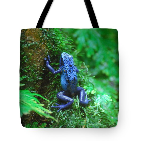 Blue Poison Dart Frog Tote Bag by DejaVu Designs
