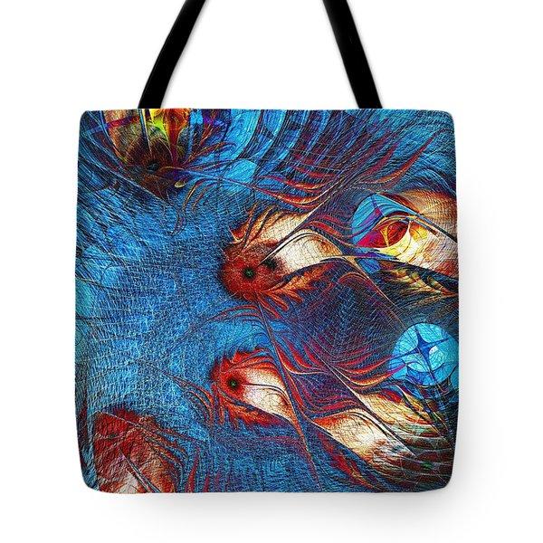Blue Pond Tote Bag by Anastasiya Malakhova