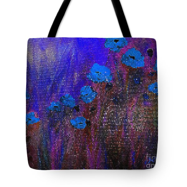 Blue Poppies Tote Bag by Claire Bull