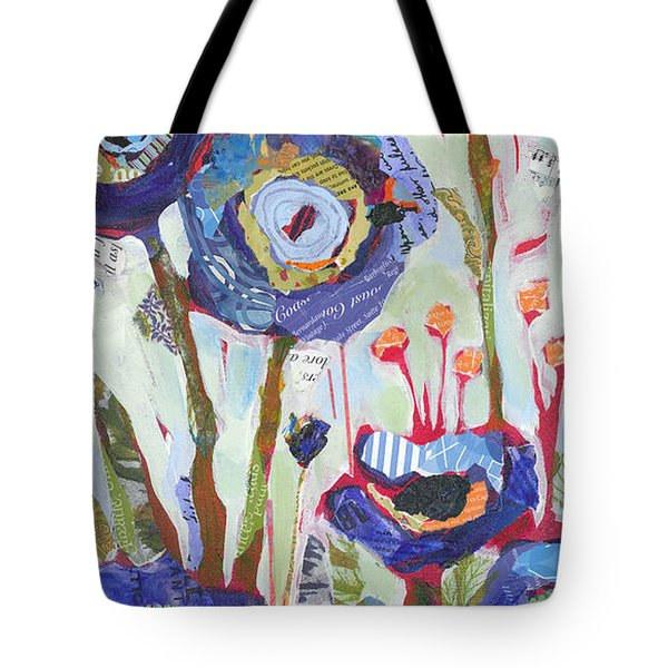 Tote Bag featuring the painting Blue Poppies I by Shelli Walters